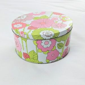 Clinique Vintage 90's Floral Tin With Lid